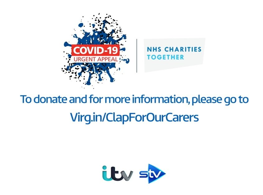 ITV gives air time to Covid-19 Urgent Appeal as nation pays tribute to our NHS