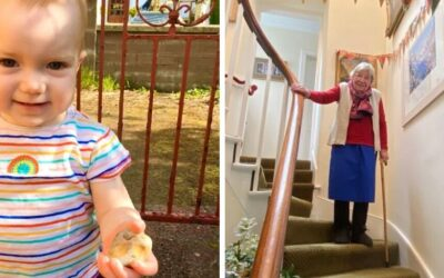 Toddler Beatrice, 18 months, and Margaret, 90, among our growing legion of fundraisers