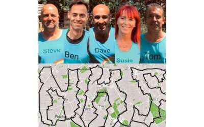 Fundraisers create special marathon route by spelling out 'NHS' on London's streets
