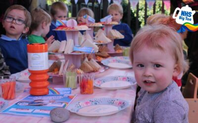 Hospital nursery children get ready for the NHS Big Tea